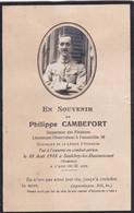 Carte De Deuil Du Lieutenant Philippe Cambefort De L'escadrille  36 Oraison    Réf 10413 B - War, Military