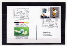 BRD, 2006, Karte (echt Gelaufen) Mit Michel 2439, Sonderstempel, Hockey-WM Mönchengladbach - Cartas