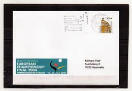 BRD, 2004, Brief (echt Gelaufen) Mit Michel 2300, Maschinenstempel, Beach-Volleyball-EM - Cartas
