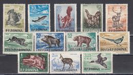 Romania 1956 - Animals, Mi-nr. 1565/76, MNH** - Nuevos