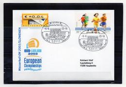 BRD, 2003, Brief (echt Gelaufen) Mit Michel 2165, ATM 5, Sonderstempel, Wasserball-EM Ljubljana - Cartas