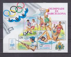 San Marino 1992 Summer Olympic Games 1992 - Barcelona MNH** - Nuovi