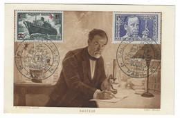 66 SM - SALON DE LA MARINE 1943 - PASTEUR -  Cachet à Date 4  Juin 1943 - Posta Marittima