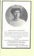 Doodsprentje - Leonia Gemin - Hoofdonderwijzeres Te Waanrode - Rillaar 1876 - 1917 - Met Foto. - Andachtsbilder