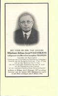 Doodsprentje - Alfons-Jozef Valvekens - Voorzitter Boerengilde - Rillaar 1877 - 1941 Met Foto. - Andachtsbilder