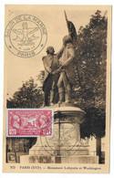 68 SM - SALON DE LA MARINE 1945 -MONUMENT LAFAYETTE ET WASHINGTON (PARIS) -  Cachet à Date 10 Juin 1945 - Posta Marittima