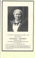 Doodsprentje - Maria Gemin - Ere-Onderwijzeres - Rillaar 1882 - Waanrode 1950 Met Foto. - Andachtsbilder