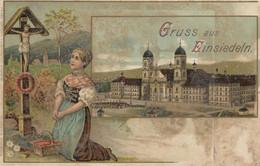 Suisse - Gruss Aus Einsiedeln - CPA Colorisée écrite - SZ Schwyz