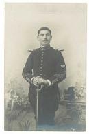 Cpa Carte-photo Soldat Au Sabre , Chasseur ? , Postée Vers Avignon   ( S.6706) - Characters