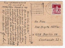 49643 - Berlin - 1967 - 8Pfg. Gr.Bauten EF A. Ans.-Kte. BERLIN - VIII. EUROPAEISCHER GEMEINDETAG -> Ost-Berlin - Briefe U. Dokumente