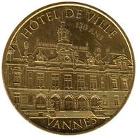 56-2318 - JETON TOURISTIQUE MDP - Vannes - Hôtel De Ville - 130 Ans - 2016.5 - 2016