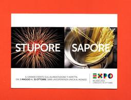 Advertising Cardboard- EXPO Milano 2015.Stupore Sapore.Sponsor TIM. Post Card's Sizes. - Telefonia