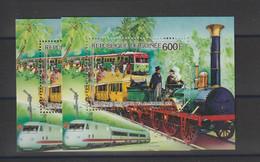 Guinée 1986 Train Chemin De Fer Allemands BF 66 ** MNH - Guinea (1958-...)