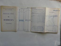 PLAN - PONTS ET CHAUSSEES DE LA GIRONDE : NOUVEAU PONT DE BORDEAUX - Architectuur