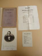 Victor Hugo - Treize Discours - Portrait De Victor Hugo - E. O. + Listes Electorales - 1851 - 1801-1900