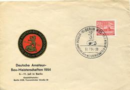 66612 Germany,special Cover And Postmark 1954 Berlin Deutsche Amateur Box Meisterschaften, Boxen,boxing - Pugilato