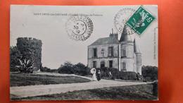CPA (85)  St Denis La Chevasse. Château De Puitesson .  Animation.   (AB.1302) - Other Municipalities