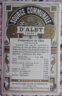 ALET Source Thermale, 1886 - Beau Dépliant Publicitaire - Tourism Brochures