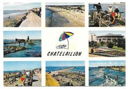 17 - CHATELAILLON - Multi Vues Avec Parasol - Ed. Théojac N° A. 10 - Ramassage Des Huîtres, Les Boucholeurs - Châtelaillon-Plage