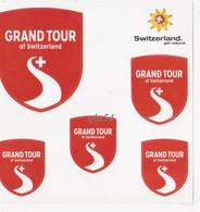 Adesivi Ecusson Adesif Switzerland Grand Tour (14x14) - Non Classificati