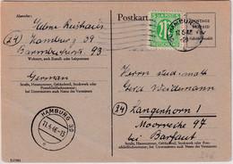 All.Bes./BZ - 6 Pfg. Ganzsache/Behelfsausgabe+Zusatz Hamburg - Langenhorn 1946 - Unclassified