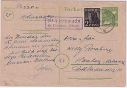 All.Bes. - (24b) Hohwacht ü. Lütjenburg Landpüost-Ra2 Ganzsache N. Hamburg - Unclassified