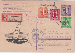 All.Bes./AZ - 6 Pfg. AM-Post Ganzsache+Zusatz+Gebühr Bezahlt Deggendorf 1945 - Unclassified