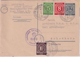 All.Bes. - 12 Pfg Ziffer Ganzsache+Zusatz I.d. SCHWEIZ Menighüffen ü. Löhne 1947 - Unclassified