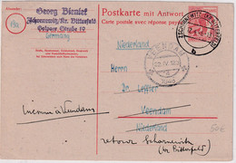 All.Bes. - 30 Pfg. Arbeiter Ganzsache F-Teil N. HOLLAND Zschornewitz 1948 Retour - Unclassified