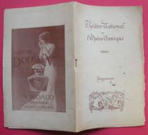 Théâtre National De L'Opéra Comique 1913 La Tosca Programme Illustré  & Publicités  Imp Lusincki 14.5x23.5  Cms - Programs