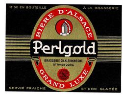 Ancienne étiquette  Brasserie Kleinknect à Strasbourg 67 - Beer