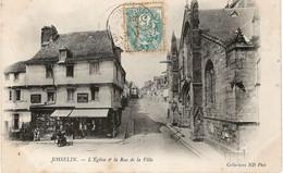 JOSSELIN L'Eglise Et La Rue De La Ville - Josselin