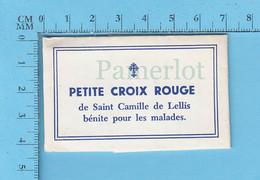 Religion - Ex-voto Sachet De Poche, Petite Croix Rouge De St-Camile De Lellis Bénite Pour Les Malades - Religion & Esotérisme