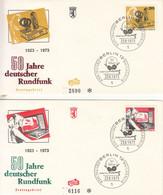 Berlin-23/8/1973-50ans De La Radiodiffusion Allemande (Deutsche Rundfunk) - Briefe U. Dokumente