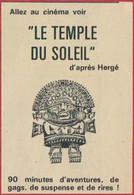 Tintin. Allez Au Cinéma Voir Le Temple Du Soleil D'après Hergé. 1969. - Publicités