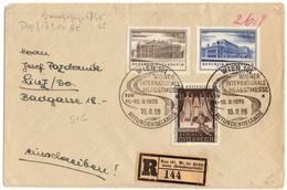 AUTRICHE AFFRANCHISSEMENT OBLITERE CACHET ET VIGNETTE DE RECOMMANDATION SPECIAUX FETE D'AUTOMNE VIENNE - 1945-60 Afgestempeld