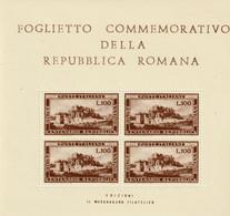 REPUBBLICA ROMANA - 1949 - Blocchi & Foglietti