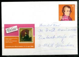 MOZART - 16. Briefmarken-Messe Koblenz 12-13 April 2008 - Umschläge - Gebraucht