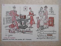Buvard Illustré - Thème Electricité Et Gaz EDF GDF : LE COKE  De GAZ DE FRANCE - Electricité & Gaz