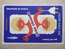 Buvard Illustré - Thème Electricité Et Gaz EDF GDF : GAZ DE FRANCE Et ELECTRICITE DE FRANCE - Electricité & Gaz