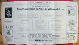 1913 Grand Championnat Du Monde De Catch As Catch Can Lutte De Combat US Programme Illustré Publicités Sans éditeur - Programs