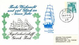 Ganzsache - Burg Eltz - Kiel 1977 - Schiffspost Segelschulschiff Gorch Fock - Segelschiff Glattdecker - Privatpostkarten - Gebraucht