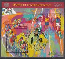 UNO GENF  Block 8, Gestempelt, 100 Jahre Olympische Spiele Der Neuzeit, 1996 - Blocks & Kleinbögen