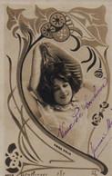 Belle Illustrée ART NOUVEAU  Montage-photo REUTLINGER : Jolie Femme Au Chapeau . ( Anna Held ) - Frauen