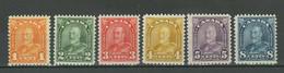 Canada 1928 ☀ King George V - SG275/280 ☀ MLH Set - Unused Stamps