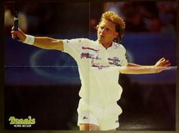 POSTER Tennis 1991 Boris BECKER Allemagne Germany 40 X 54 Cm - Altri