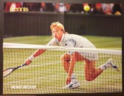 POSTER Tennis 1988 Boris BECKER WIMBLEDON Allemagne Germany 41 X 54 Cm - Altri