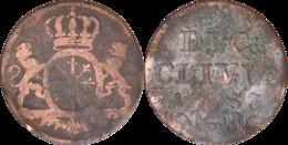 Allemagne - Comté De Clèves - 1 Duit - Friedrich II - 1753 - DUC: CLIVIÆ - L201 - Taler & Doppeltaler