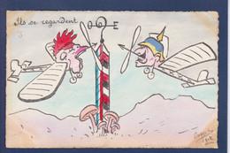 CPA Orens Satirique Caricature Non Circulé Estampe Tirage Limité Kaiser Coq - Satirical
