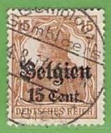 MiNr.15 O  Deutschland Deutsche Besetzg,1.WK Belgien - Occupazione 1914 – 18